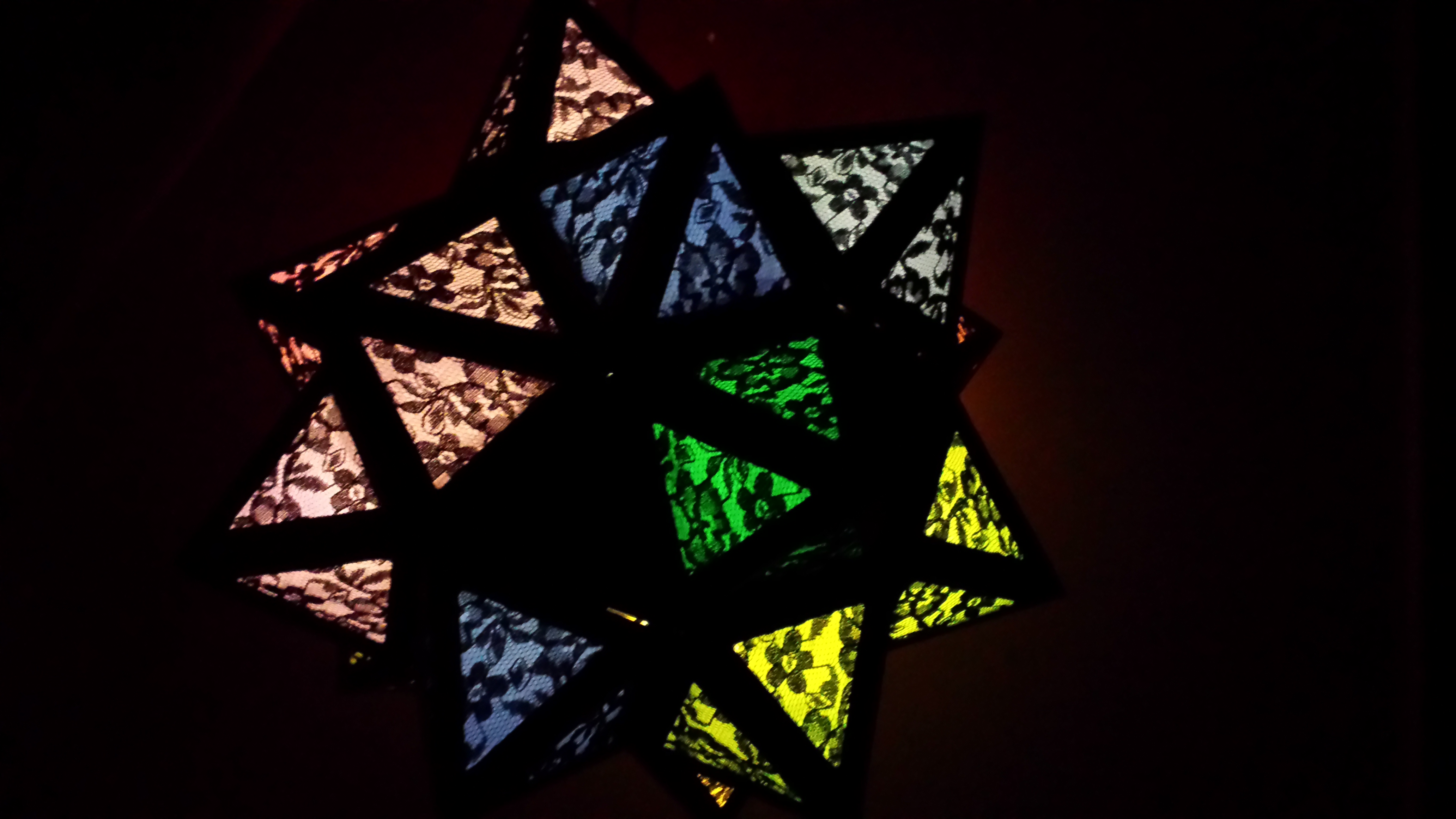 Picture of Rainbow Moravian Star Lamp