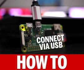 Connect to a Raspberry Pi Zero W Via USB - No Mini HDMI Cable Needed