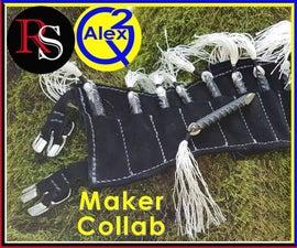Ninja Rebar Shuriken With Leg Sheath - Maker Collab Pt.1