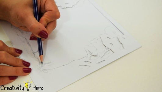 Cut the Layers Using an X-Acto Knife.