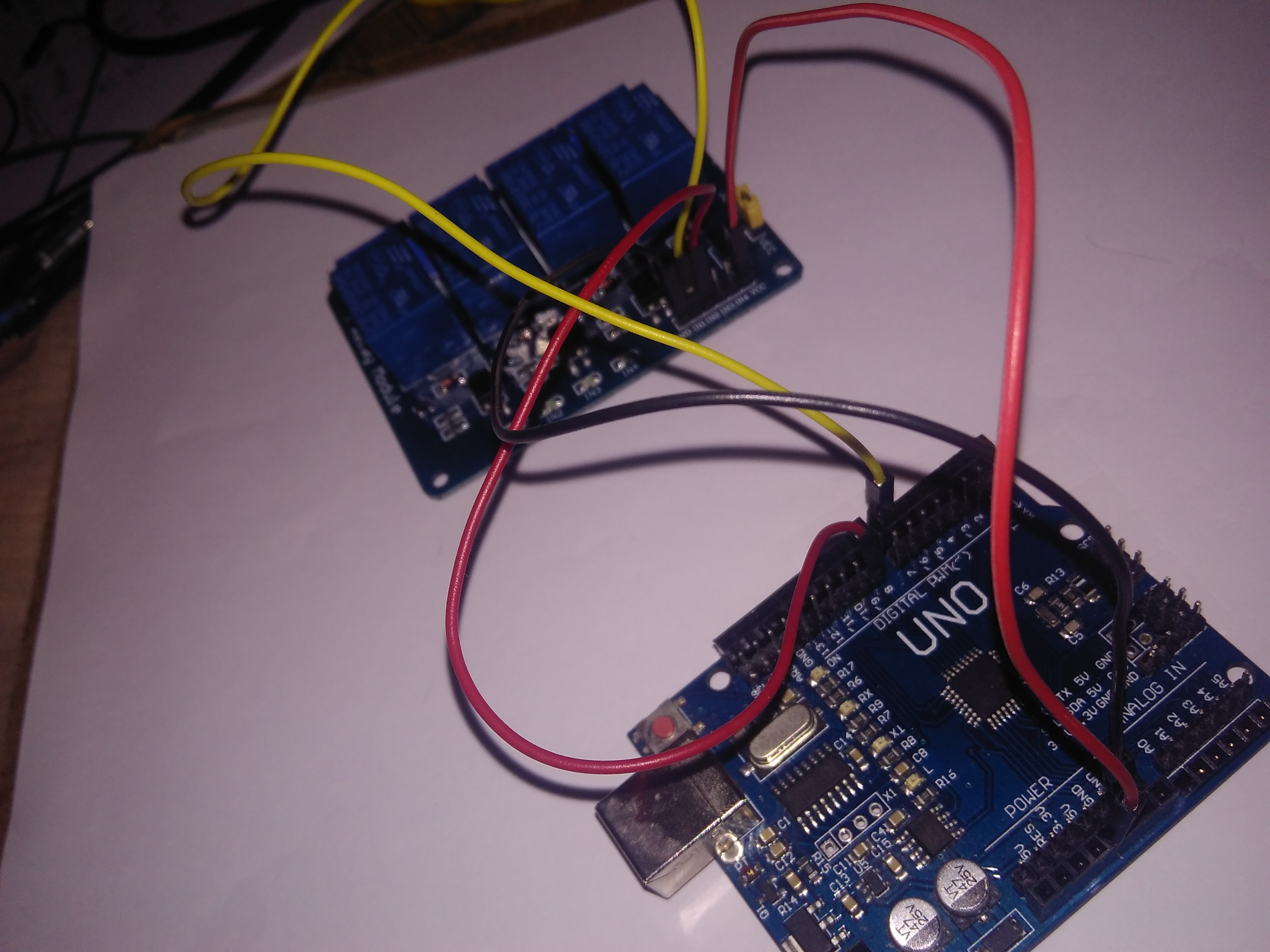 Picture of Connection of Arduino and Relay Board !