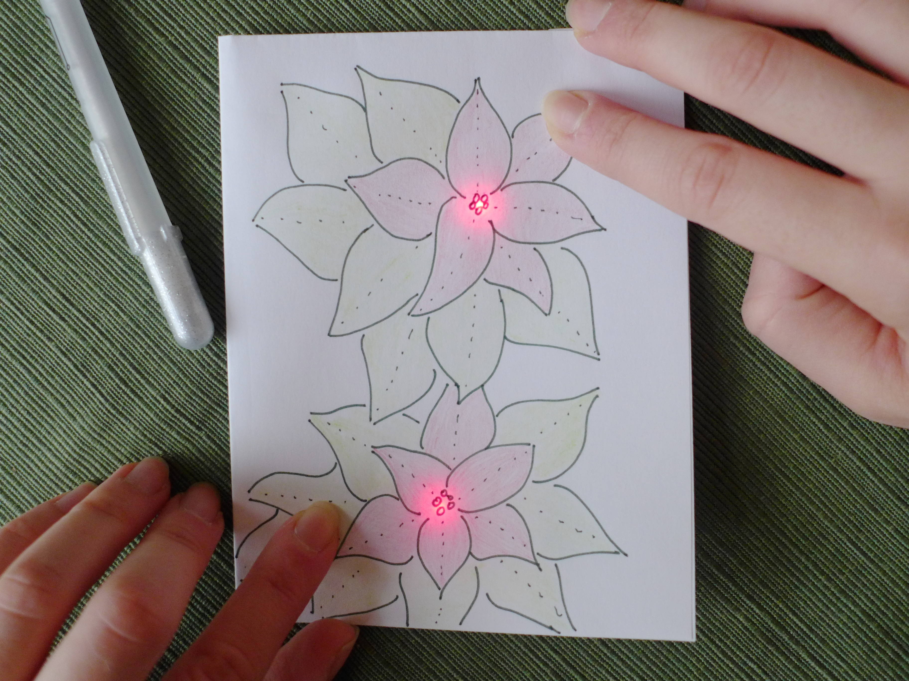 Picture of Circuit Scribe Holiday Card - Draw Your Own Electronic Cards!