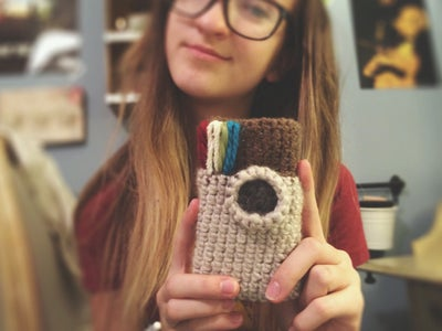 Crochet Instagram Phone Case