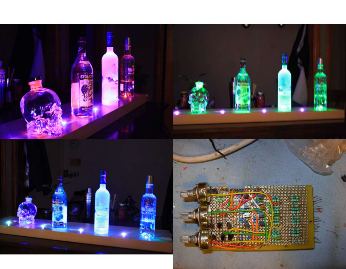 Picture of Arduino Powered RGB LED Vodka Shelf