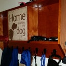 Dog Sign Coat Rack