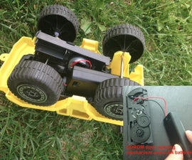 Power up a Toy Car -using CDROM Door opening Mechanism