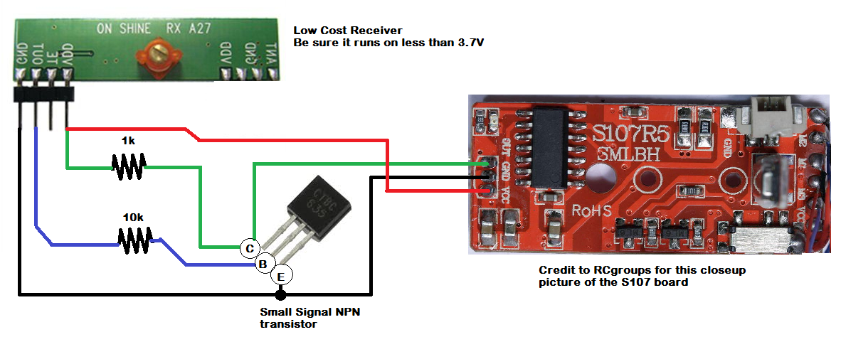 Picture of Adding a NOT Gate Signal Conditioner to the Receiver