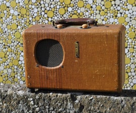 Re-purposing an Antique Portable Radio Into a Hip Bluetooth Speaker