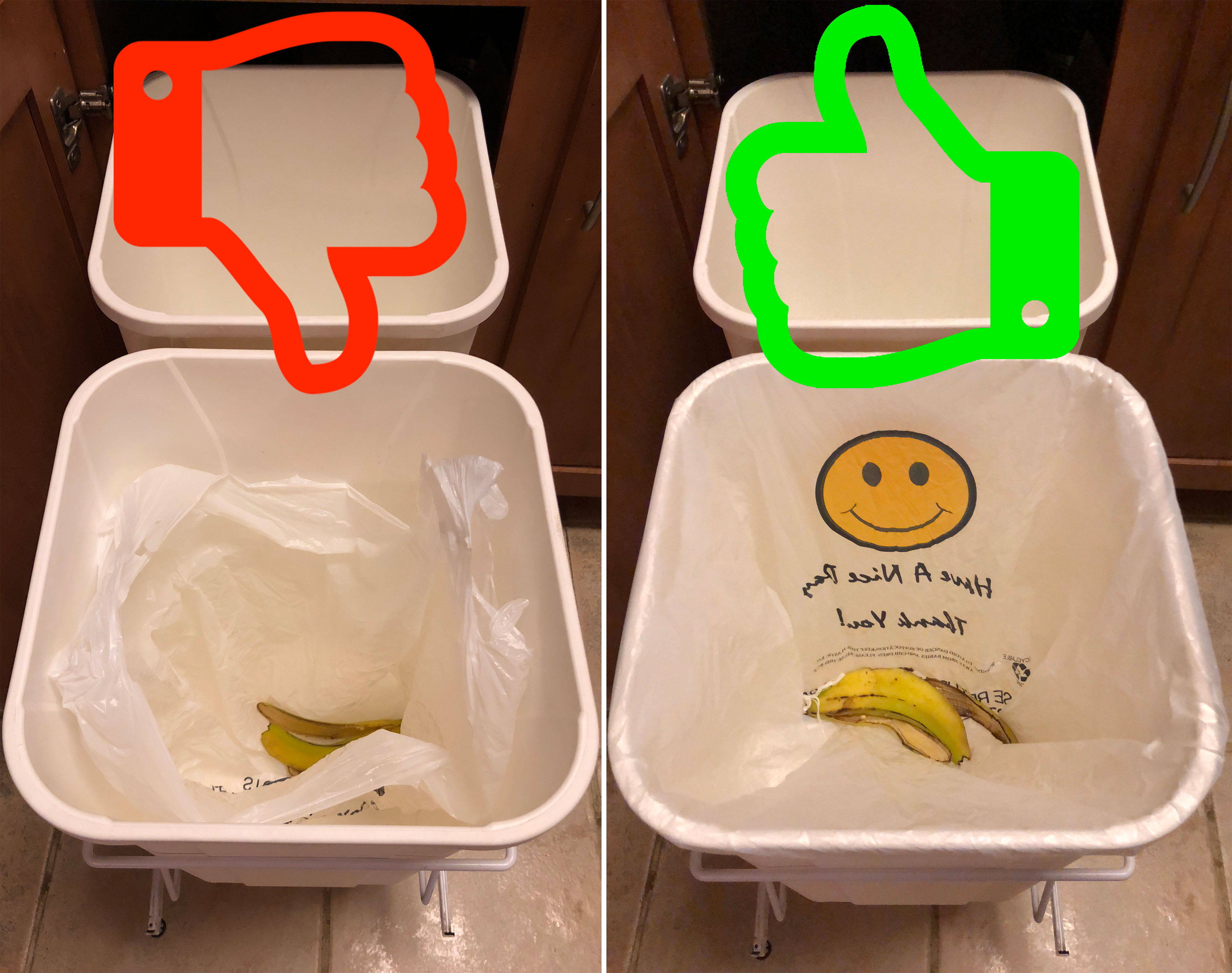 Picture of Hack Your Garbage Can to Use Grocery Store Plastic Bags