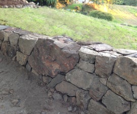 How to Build a Natural Dry Stacked Stone Free Standing or Retaining Rock Wall