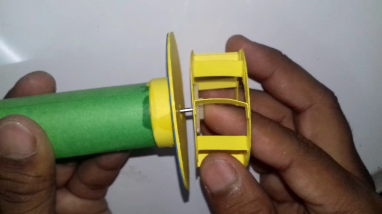 Picture of Attaching Impeller to the Base and Making Its Outer Covering