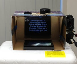 $10 DIY Box Teleprompter That Works Great!