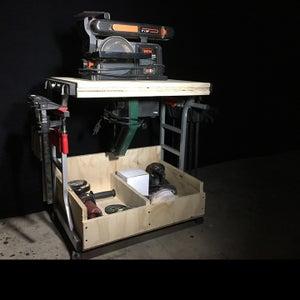 Flip Top Tool Cart From Reclaimed Desk