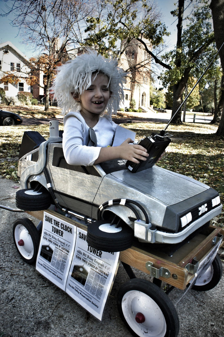 Picture of Awesome Back to the Future Costume (Doc Brown and Delorean)