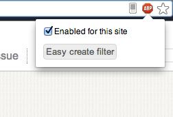 Blocking Annoying Ads on Websites