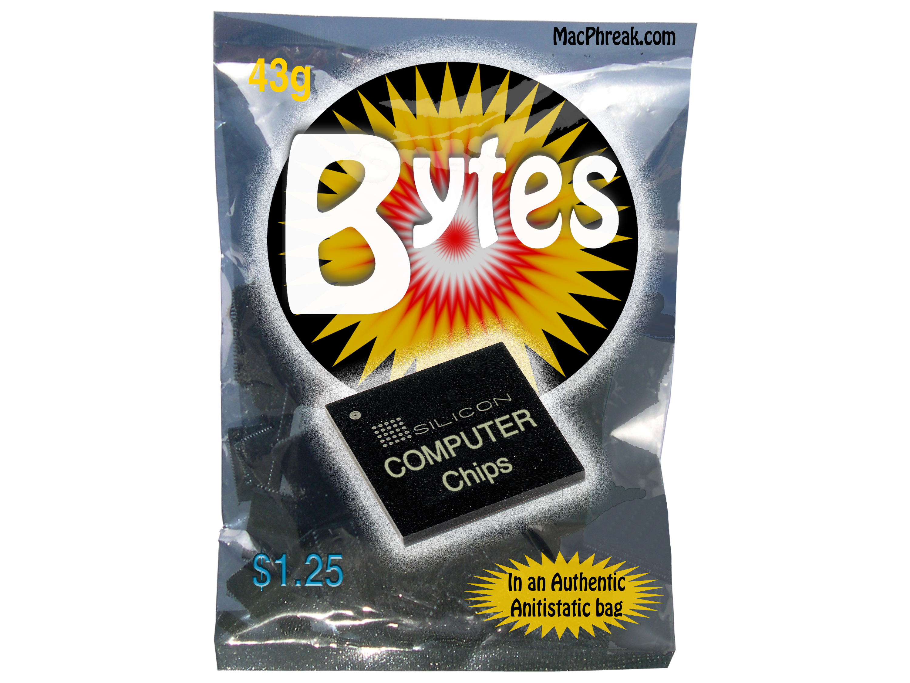 Picture of Computer Chips (joke Bag)