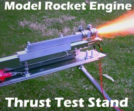 Model Rocket Engine Thrust Measurement Stand