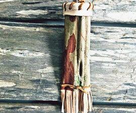Backyard Crepe Myrtle Bark and Buckskin Quiver/Bag
