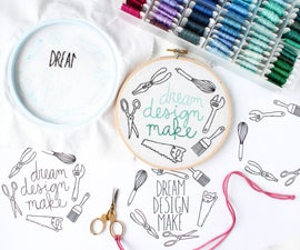 Tips for Embroidering + Final Class Pattern