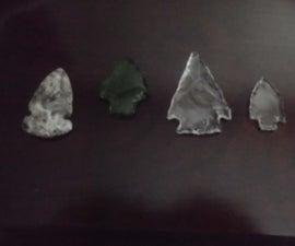 Glass and Styrofoam Arrowheads
