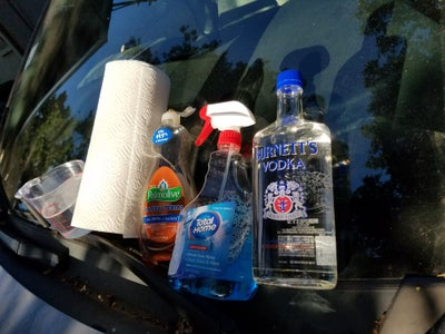 Wash With Windex, Especially the Windshield (and Solar Panel, If You Have One)