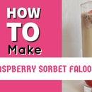 DIY INSTANT FALOODA Raspberry Sorbet #Ramadan Delights