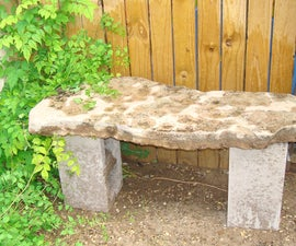 MAKE A SLATE ROCK BENCH FOR 3 DOLLARS!