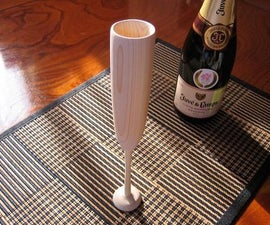 Original Way to Make a Champagne Glass with Grinder and Electric Drill