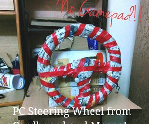 PC Steering Wheel and Gas Pedals- Using Only Cardboard and a Mouse