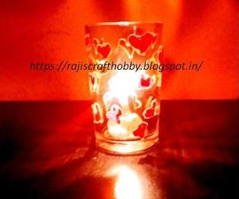 DIY Stained Glass Valentine Votive Candle Holder
