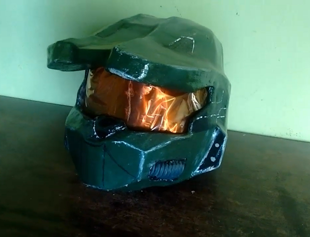 Picture of How to Make Master Chief Helmet (halo)