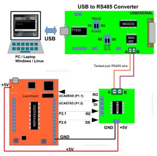 Rs485 Communication Using Max485 And Msp430 Launchpad 9 Steps Instructables