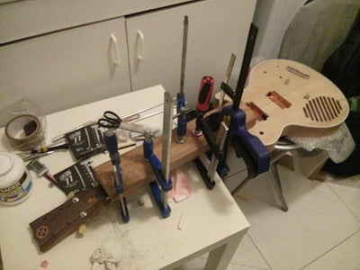 Gluing the Fretboard to the Neck