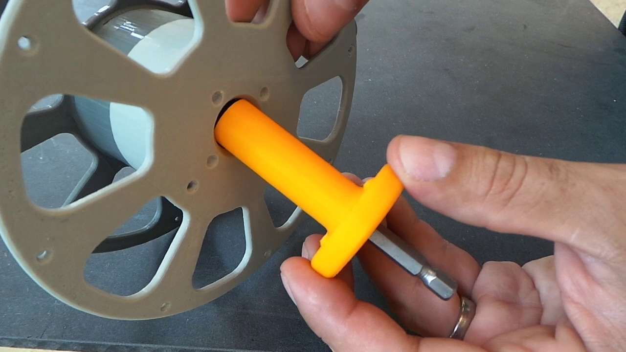 Picture of Insert the Shaft Into the Spool