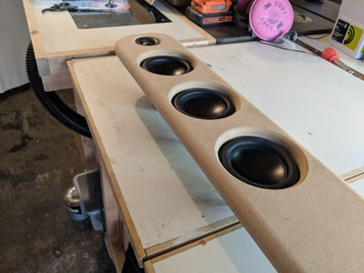 Mounting Speakers and Fabric Wrap
