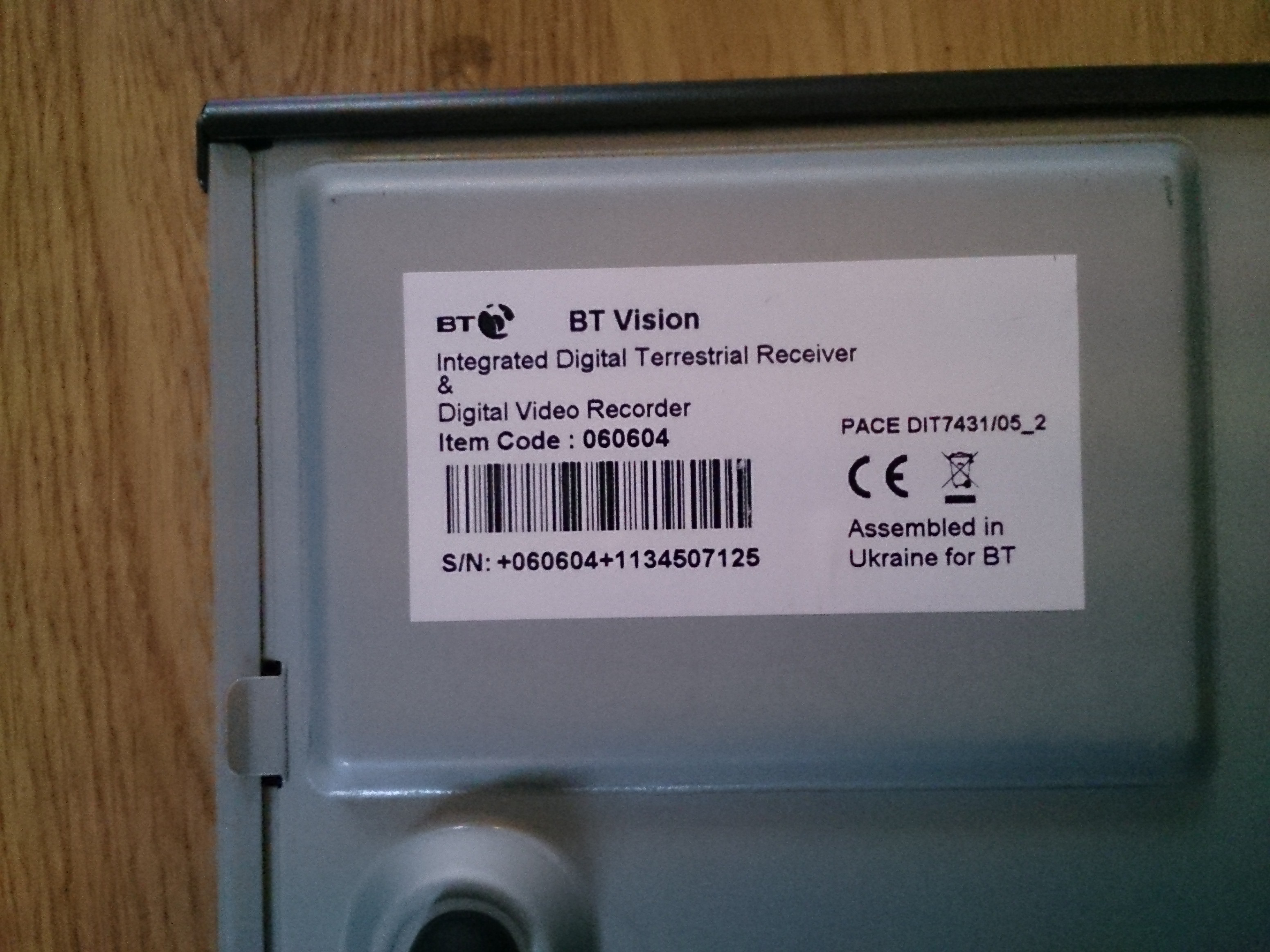 Picture of Unlock Hard Drive From an Old BT Vision Box