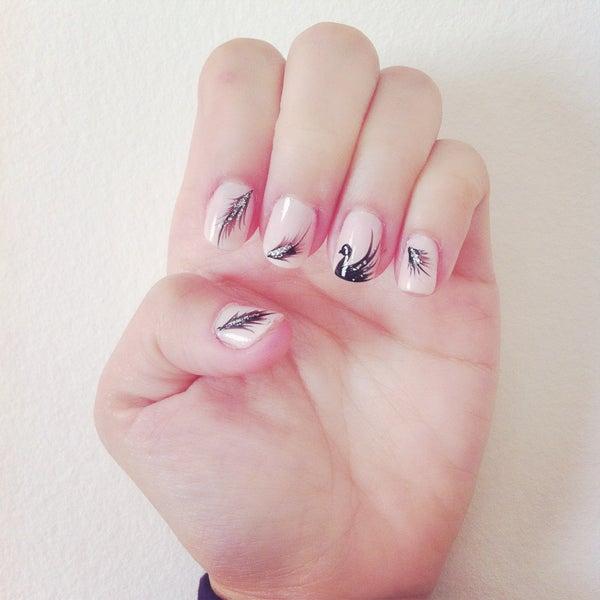 Black Swan Nail Design