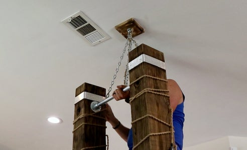 Hang Chandelier and Attach Wiring