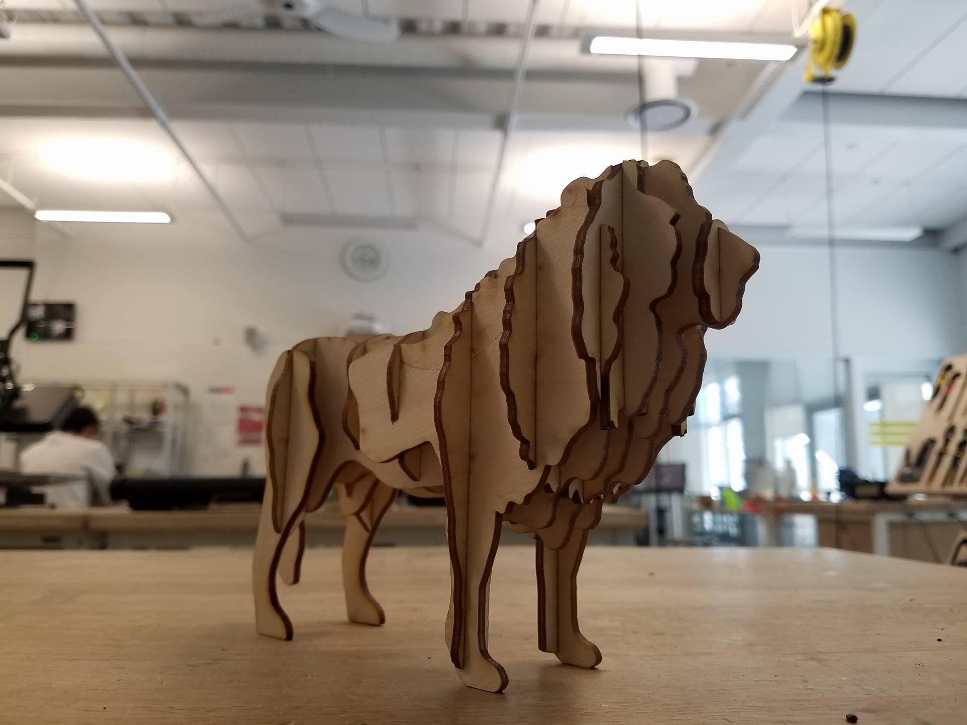 Picture of Laser Cut Lion