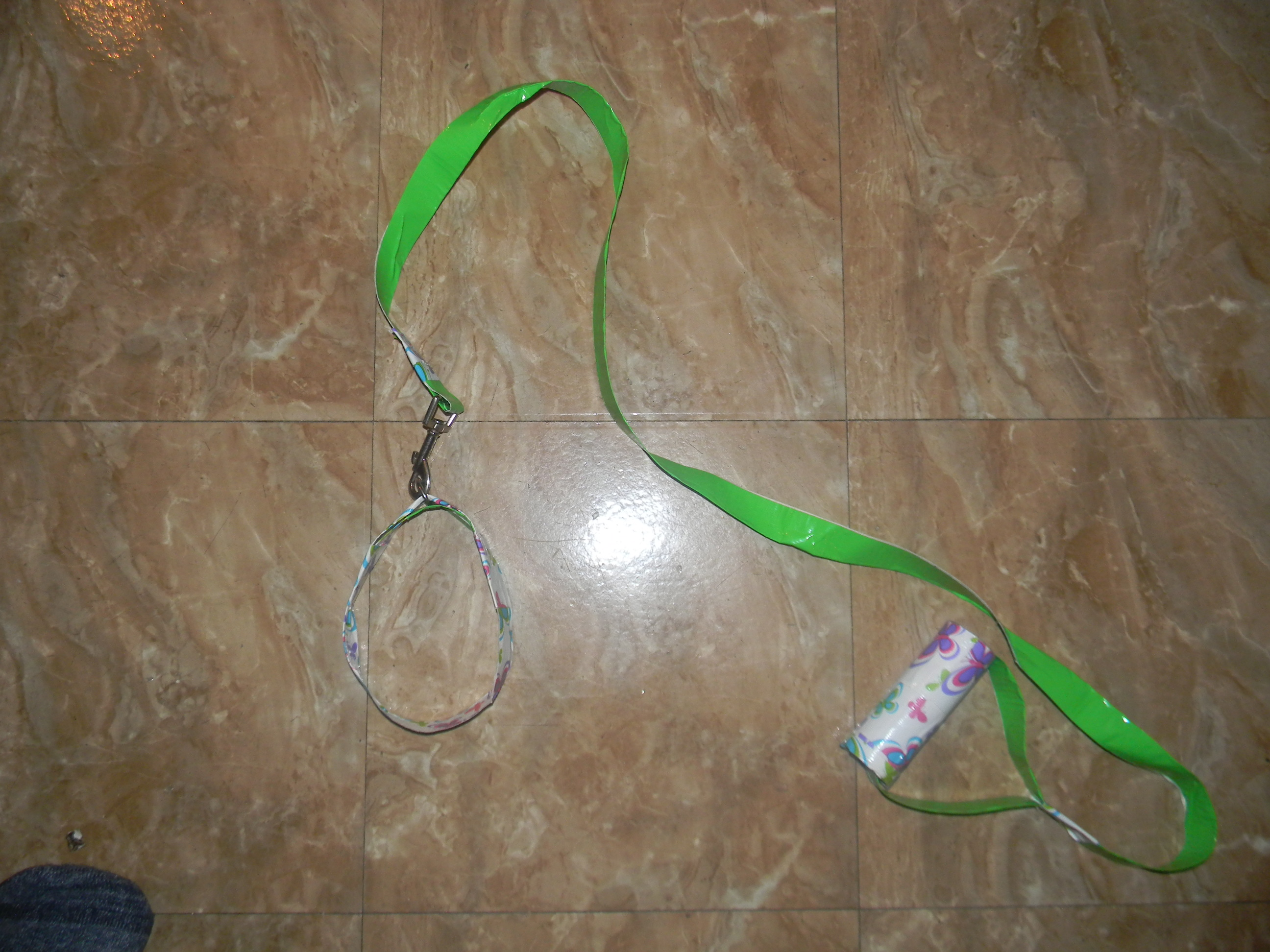Picture of Duct Tape Dog Leash and Collar