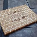 Brick and Mortar Cutting Board