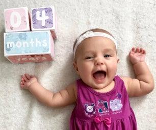 Paper Baby Age Blocks
