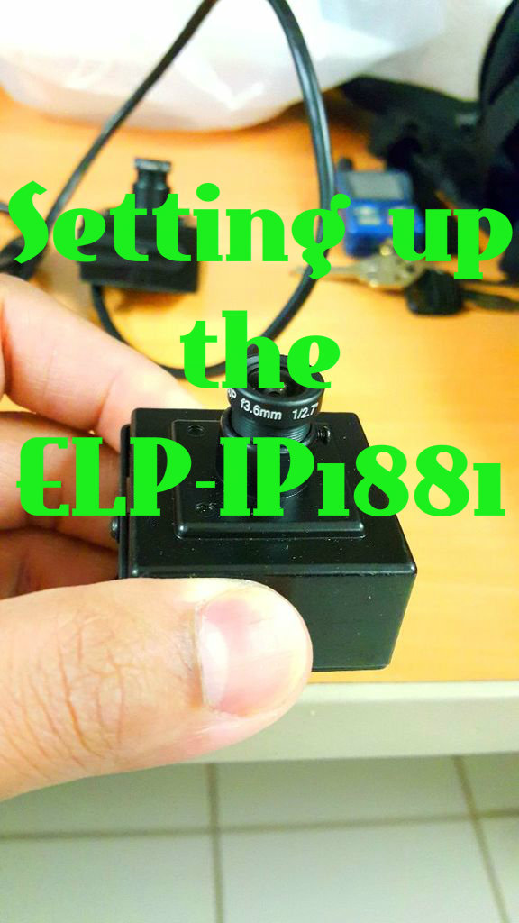 Picture of Setting Up the ELP-IP1881 Camera