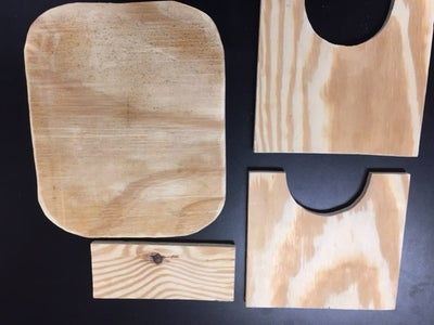 These Are the Four Pieces in Your Stool Building Kit.