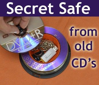 Secret Safe From Old CD's