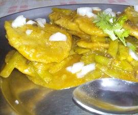 Cluster Beans / Gavarfali Dhokli With Wheat Flour Dumplings-DIY Indian Recipe