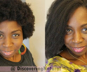 How to Saran Wrap Roller Set to Straighten Natural Hair