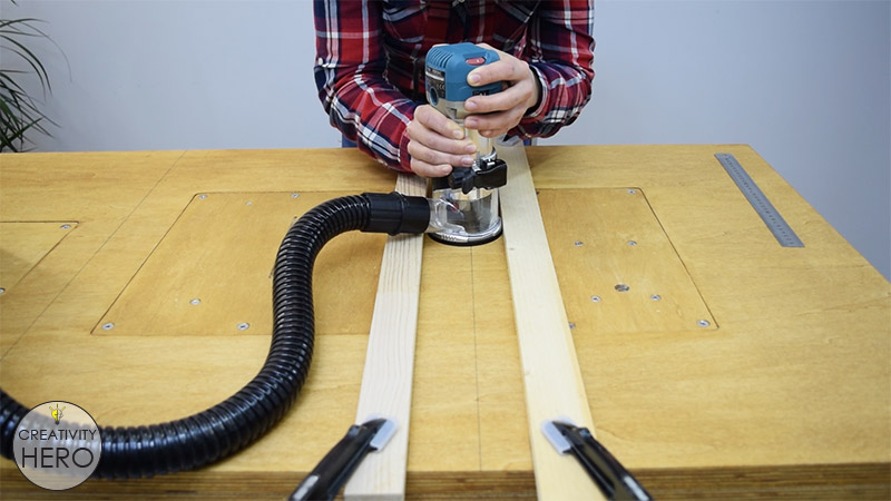 Picture of Creating Miter Slots With a Router.