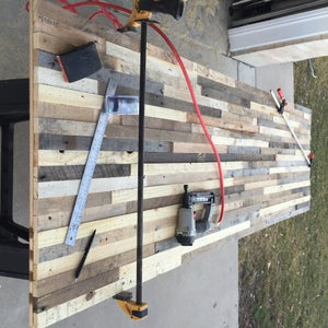 Attach Pallet Pieces to Plywood Base