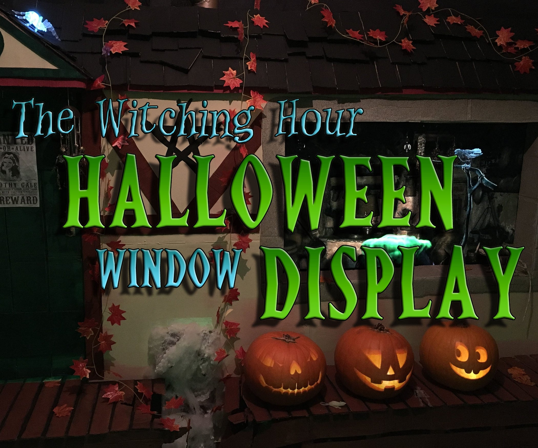 the witching hour halloween window display: 8 steps (with pictures)
